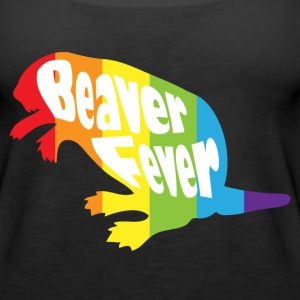 Beaver Fever Rainbow Funny Tanks - Women's Premium Tank Top