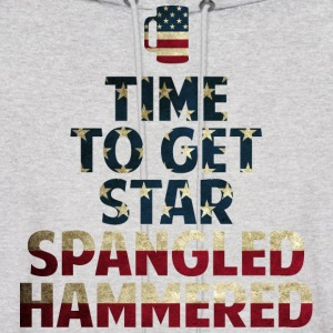 Star Spangled Hammered  - Men's Hoodie