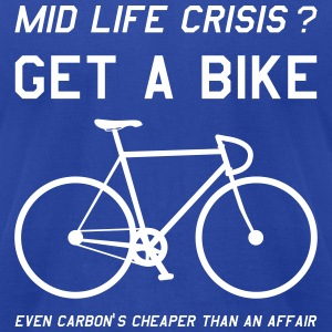 Cycling Mid Life Crisis - Men's T-Shirt by American Apparel