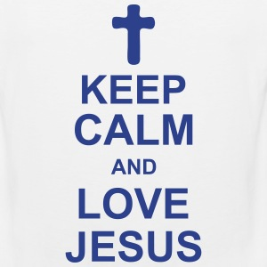 keep_calm_and_love_jesus_g1 Men - Men's Premium Tank
