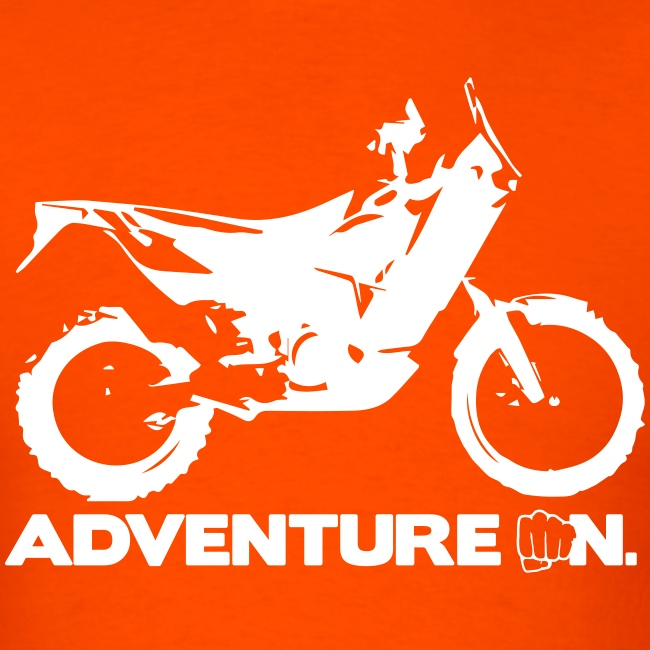 """Orange Adventure On"" - White Logo"