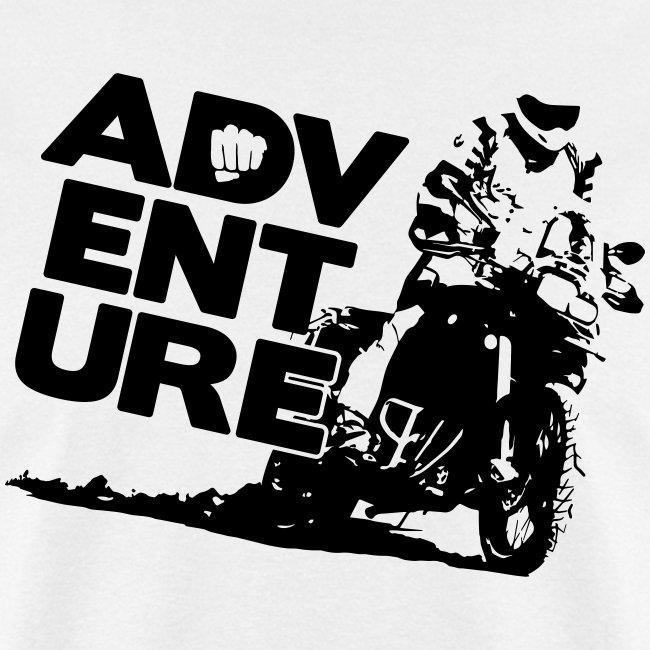 """F8 Adventure On"" - Black Logo"