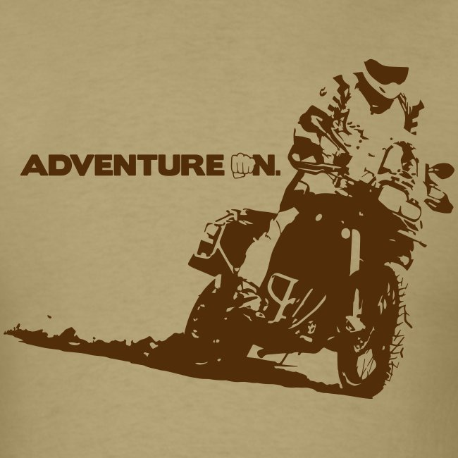 """F8 Adventure On"" - Brown Logo"