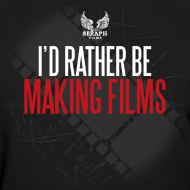 Design ~ I'd Rather Be Making Films Woman's T-Shirt