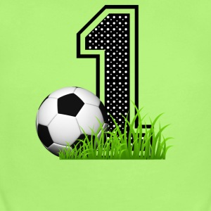 first_birthday_soccer Baby & Toddler Shirts - Short Sleeve Baby Bodysuit