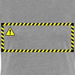 Warning sticker - Women's Premium T-Shirt