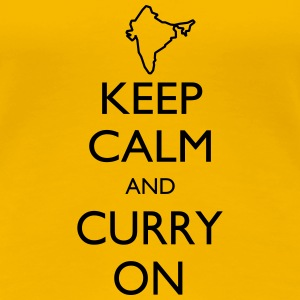 Keep Calm and Curry On - Women's Premium T-Shirt