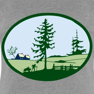country scene - Women's Premium T-Shirt