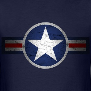 Vintage Army Air Corps Patriotic Star - Men's T-Shirt