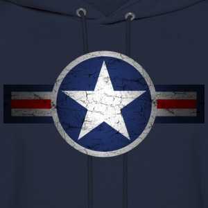 Vintage Army Air Corps Patriotic Star - Men's Hoodie