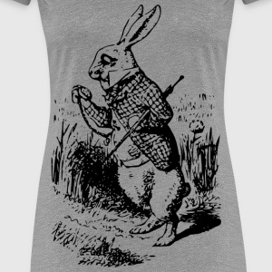Alice In Wonderland white rabbit - Women's Premium T-Shirt