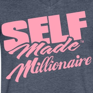 SELF MADE MILLIONAIRE - Men's V-Neck T-Shirt by Canvas
