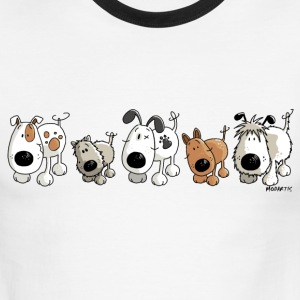 Funny Dogs - Dog - Doggy T-Shirts - Men's Ringer T-Shirt