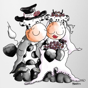 Cow Wedding - Bride - Groom Bottles & Mugs - Contrast Coffee Mug