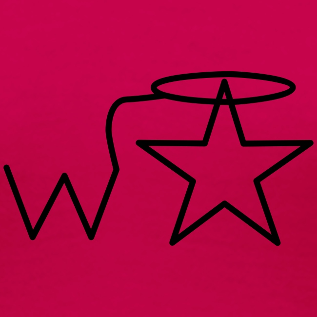 Women's Black Logo Trecento Wranglerstar