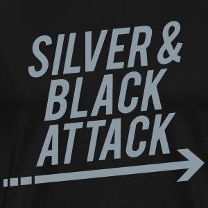 Silver & Black T-Shirts - Men's Premium T-Shirt