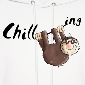 Chilling - Sloth - Cartoon Hoodies - Men's Hoodie