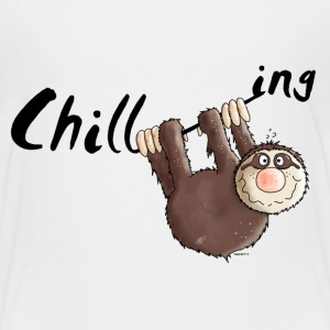Chilling - Sloth - Cartoon Baby & Toddler Shirts - Toddler Premium T-Shirt