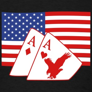 4th of July and Poker T-Shirts - Men's T-Shirt