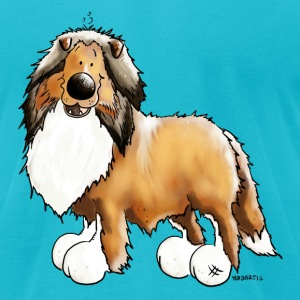 Knuffiger Collie - Rough Collie T-Shirts - Men's T-Shirt by American Apparel