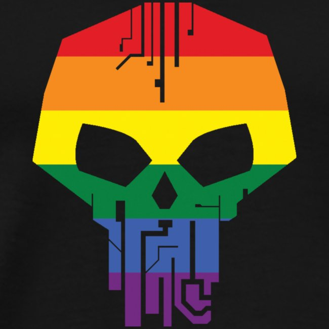 Black Ice LGBT Pride T-Shirt - Men's