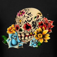 Sugar Skull Flowers T-Shirts