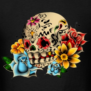 Sugar Skull Flowers T-Shirts - Men's T-Shirt