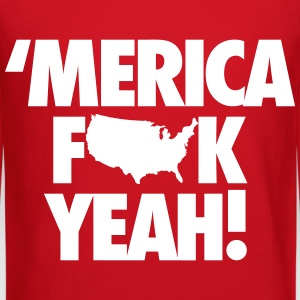 Merica Fuck Yeah! Long Sleeve Shirts - Crewneck Sweatshirt