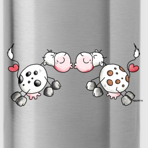 Kiss Cows - Cow - Love Bottles & Mugs - Water Bottle