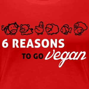 6 reasons to go vegan Women's T-Shirts - Women's Premium T-Shirt