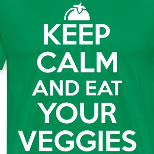 Keep calm and eat your veggies T-Shirts - Men's Premium T-Shirt