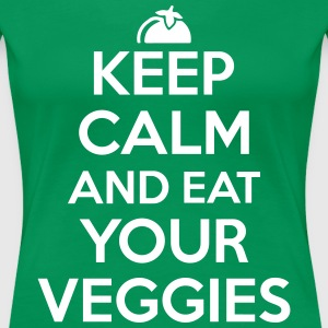 Keep calm and eat your veggies Women's T-Shirts - Women's Premium T-Shirt