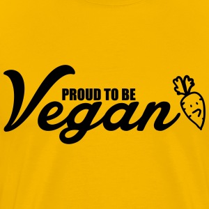 Proud to be vegan T-Shirts - Men's Premium T-Shirt