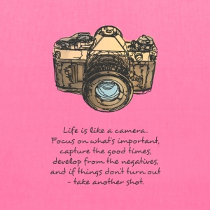 life is like camera quote Bags & backpacks - Tote Bag