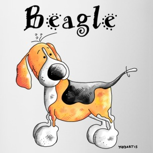 Happy Beagle - Dog - Dogs Bottles & Mugs - Contrast Coffee Mug