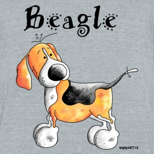 Happy Beagle - Dog - Dogs T-Shirts - Unisex Tri-Blend T-Shirt by American Apparel