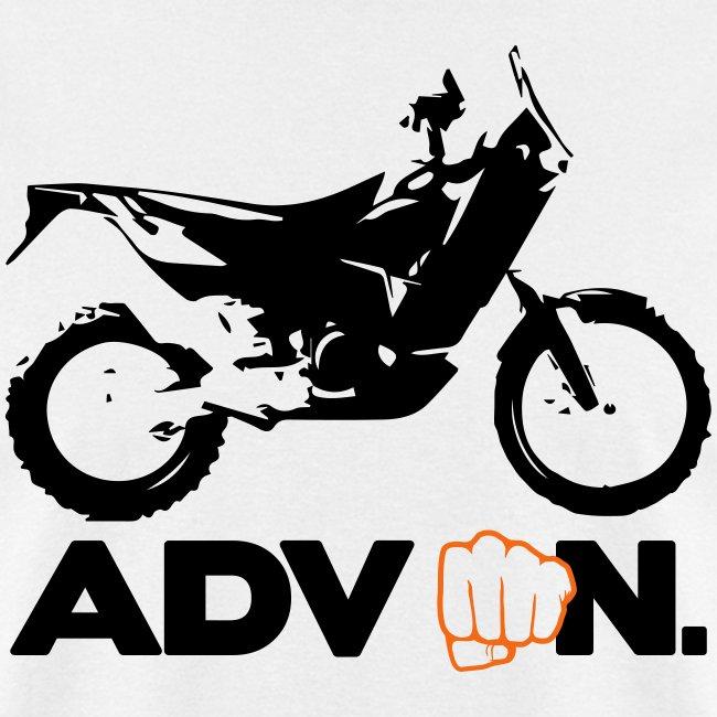 """Orange ADV On"" - 2 Color Logo"