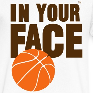 IN YOUR FACE BASKETBALL - Men's V-Neck T-Shirt by Canvas