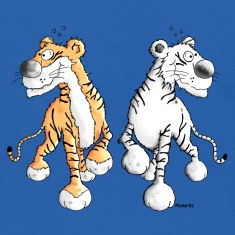 Tiger Friends - Wild Animals - Zoo Sweatshirts