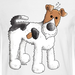 Funny Fox Terrier - Dog - Dogs Long Sleeve Shirts - Men's Long Sleeve T-Shirt