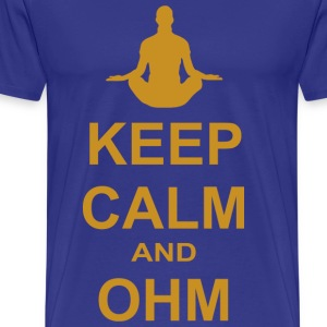 Keep Calm and OHM - Men's Premium T-Shirt
