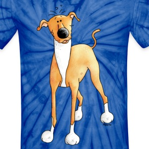 Funny Greyhound - Dog - Dogs T-Shirts - Unisex Tie Dye T-Shirt