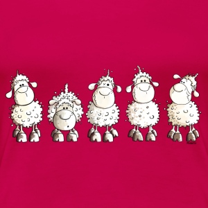 Funny White Sheep Women's T-Shirts - Women's Premium T-Shirt