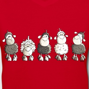 Funny Sheep  Women's T-Shirts - Women's V-Neck T-Shirt
