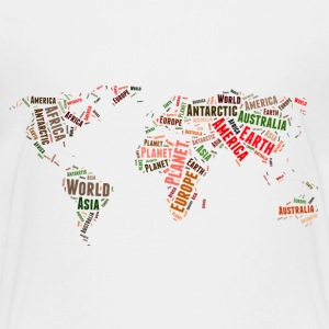 World map words cloud Baby & Toddler Shirts - Toddler Premium T-Shirt