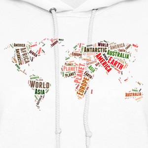 World map words cloud Hoodies - Women's Hoodie