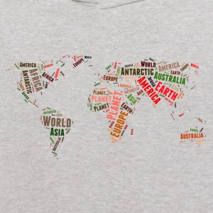 World map words cloud Sweatshirts - Kids' Hoodie
