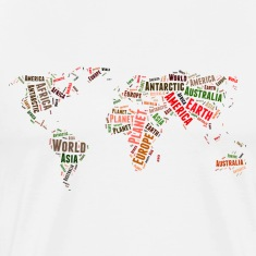 World map words cloud T-Shirts
