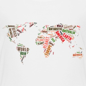 World map words cloud Kids' Shirts - Kids' Premium T-Shirt
