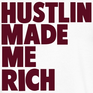 HUSTLIN MADE ME RICH - Men's V-Neck T-Shirt by Canvas